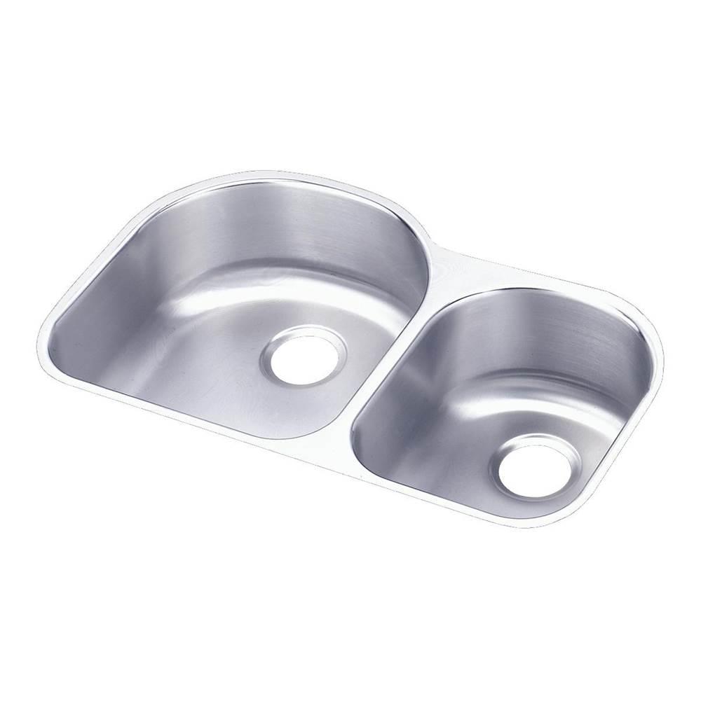 Elkay - ELUH3119R - Elkay Lustertone Classic Stainless Steel 31-1/4'' x 20'' x 7-1/2'', Offset 60/40 Double Bowl Undermount Sink